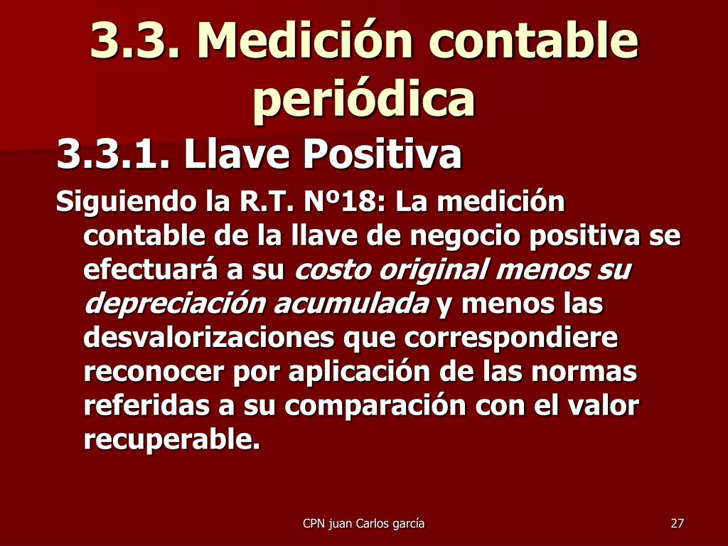 3.3. Medición contable periódica