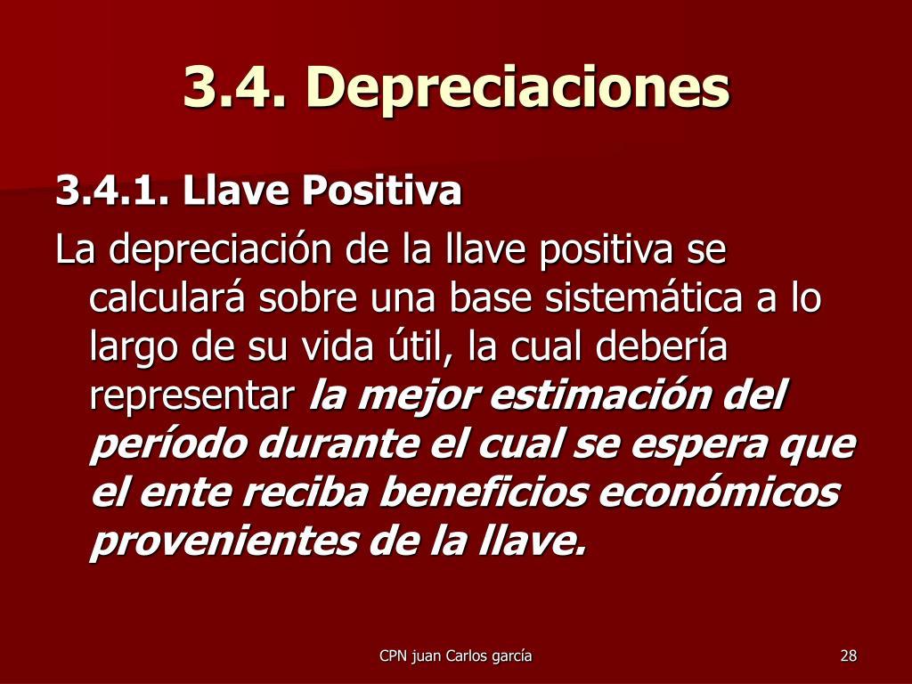 3.4. Depreciaciones