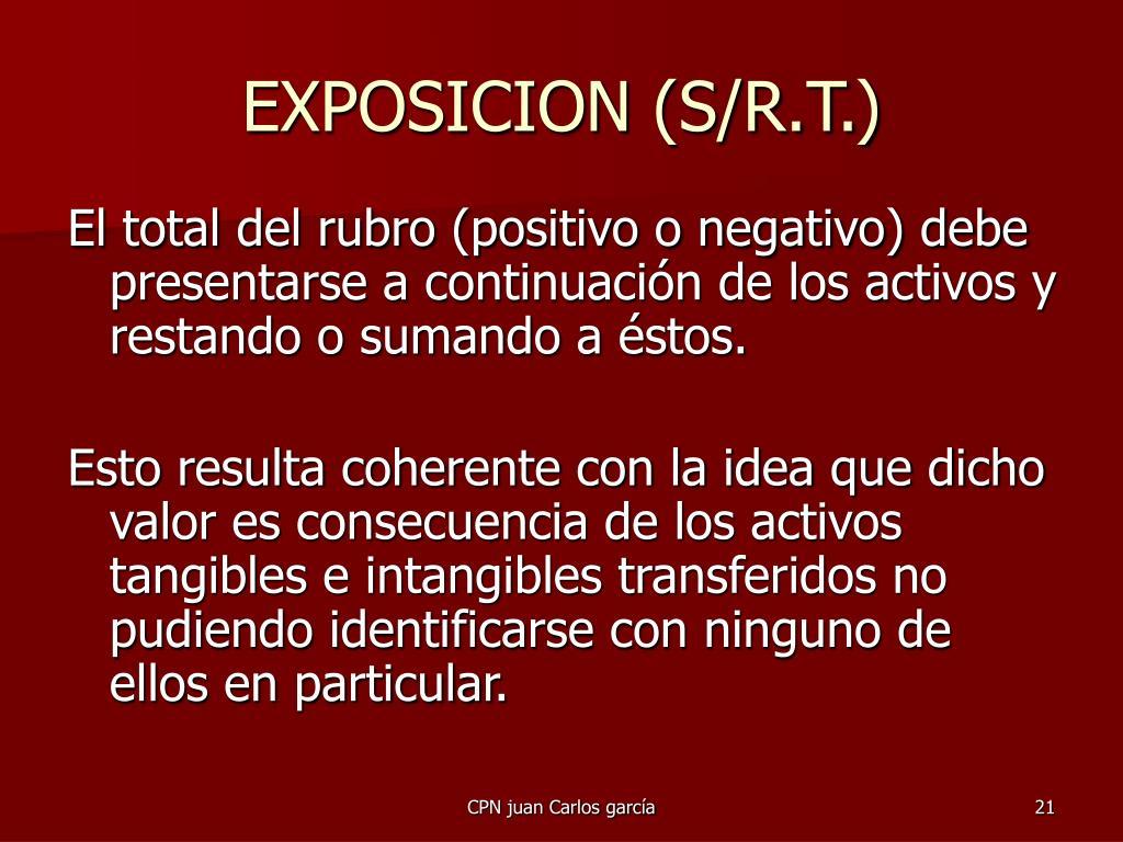 EXPOSICION (S/R.T.)