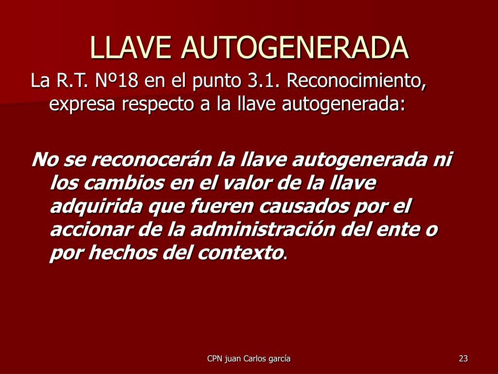 LLAVE AUTOGENERADA
