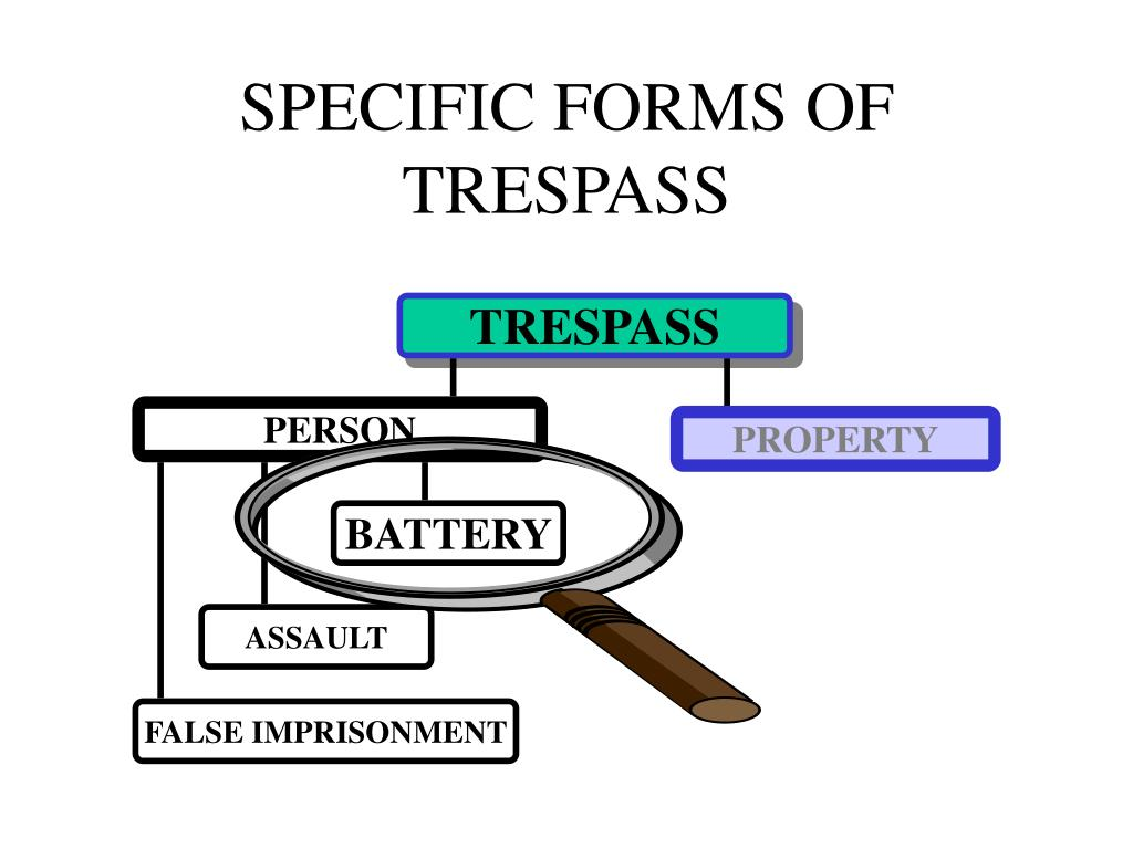 SPECIFIC FORMS OF TRESPASS