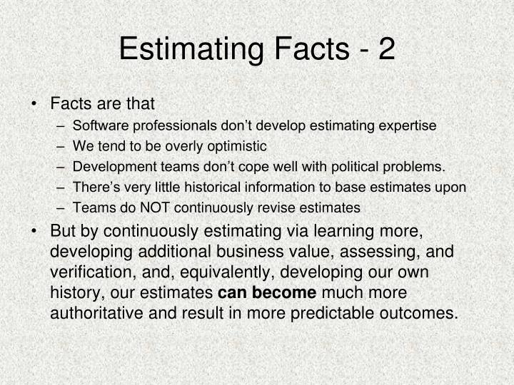 Estimating Facts - 2