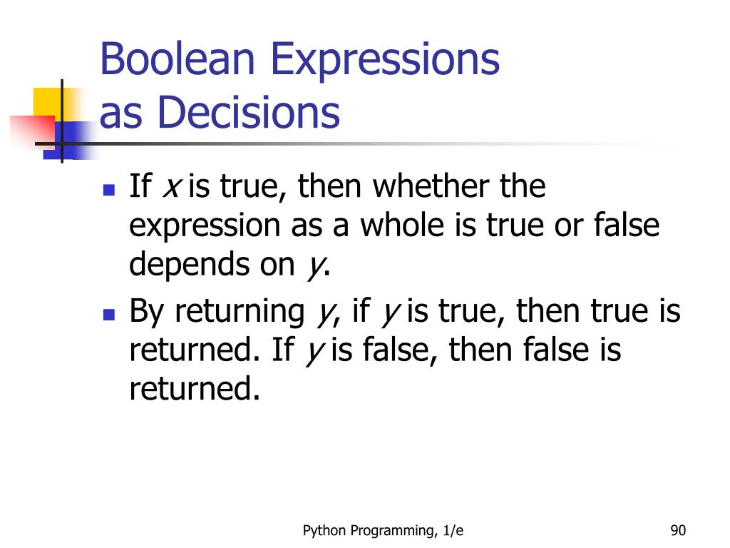 Boolean Expressions