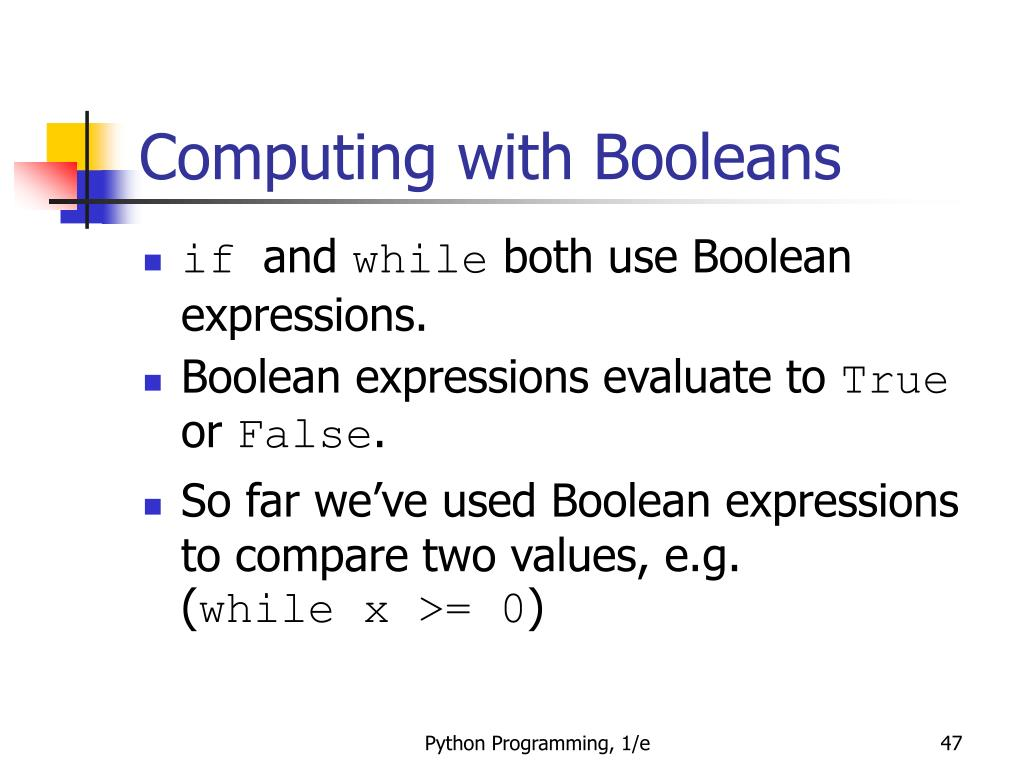 Computing with Booleans