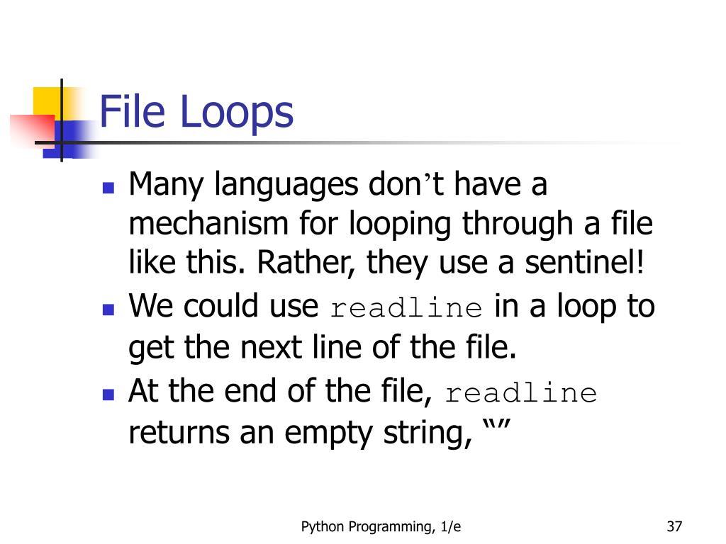 File Loops