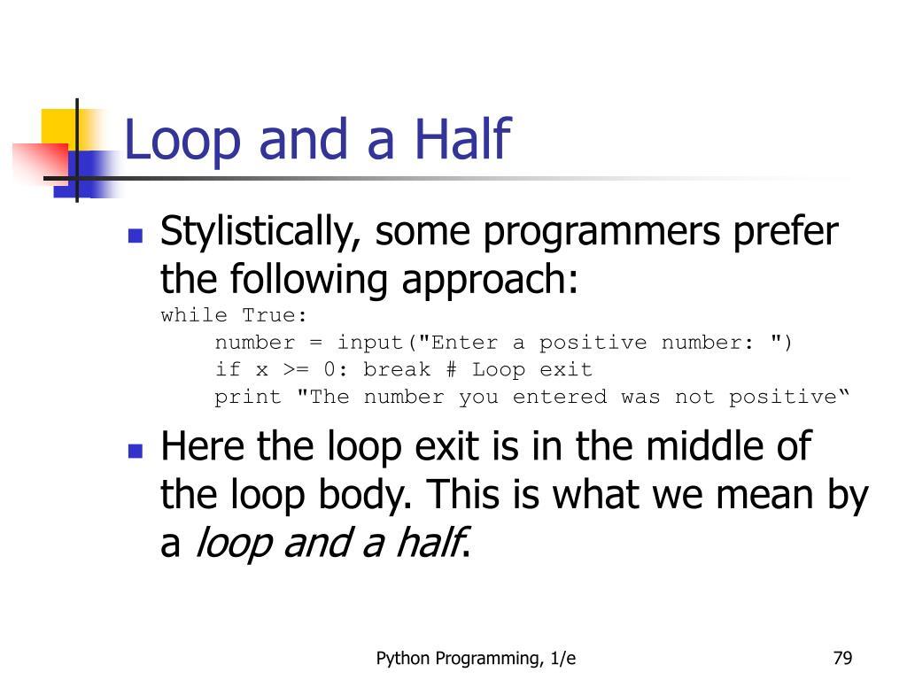 Loop and a Half