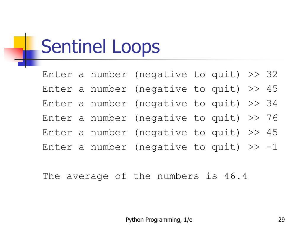 Sentinel Loops