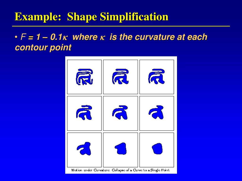 Example:  Shape Simplification