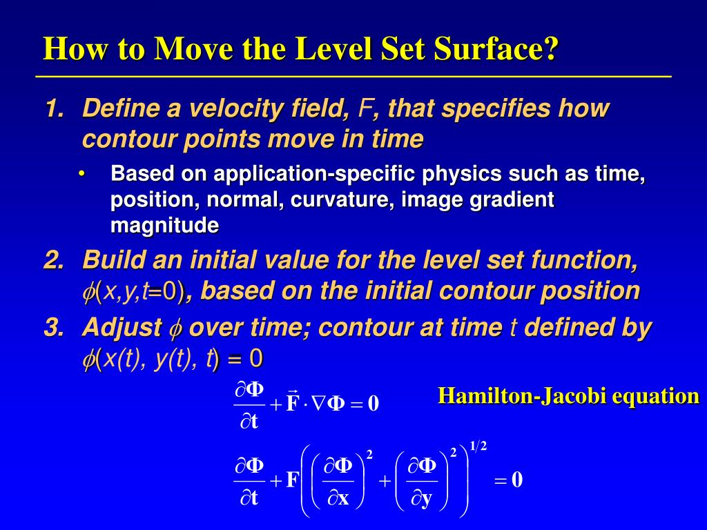 How to Move the Level Set Surface?