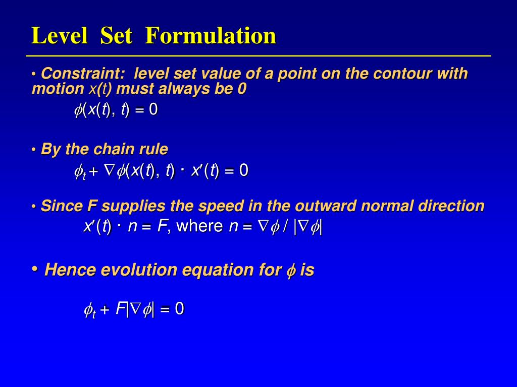 Level  Set  Formulation