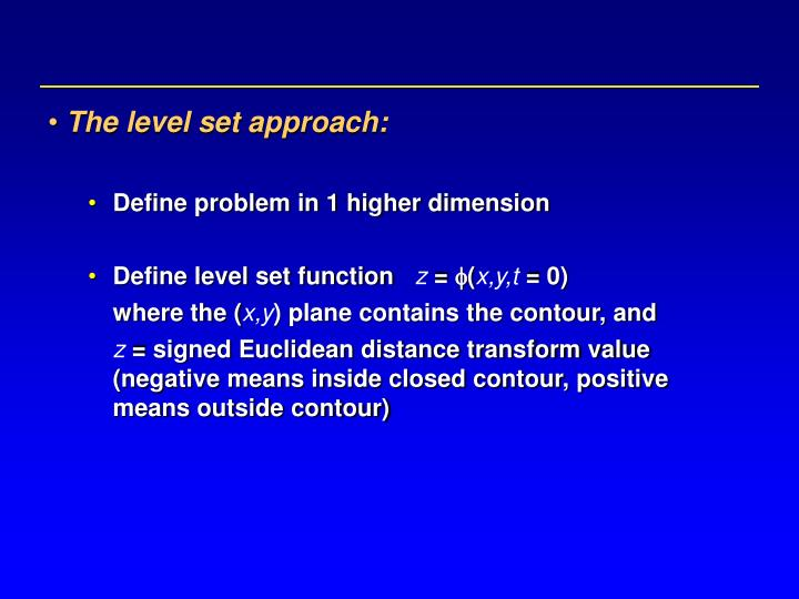 The level set approach: