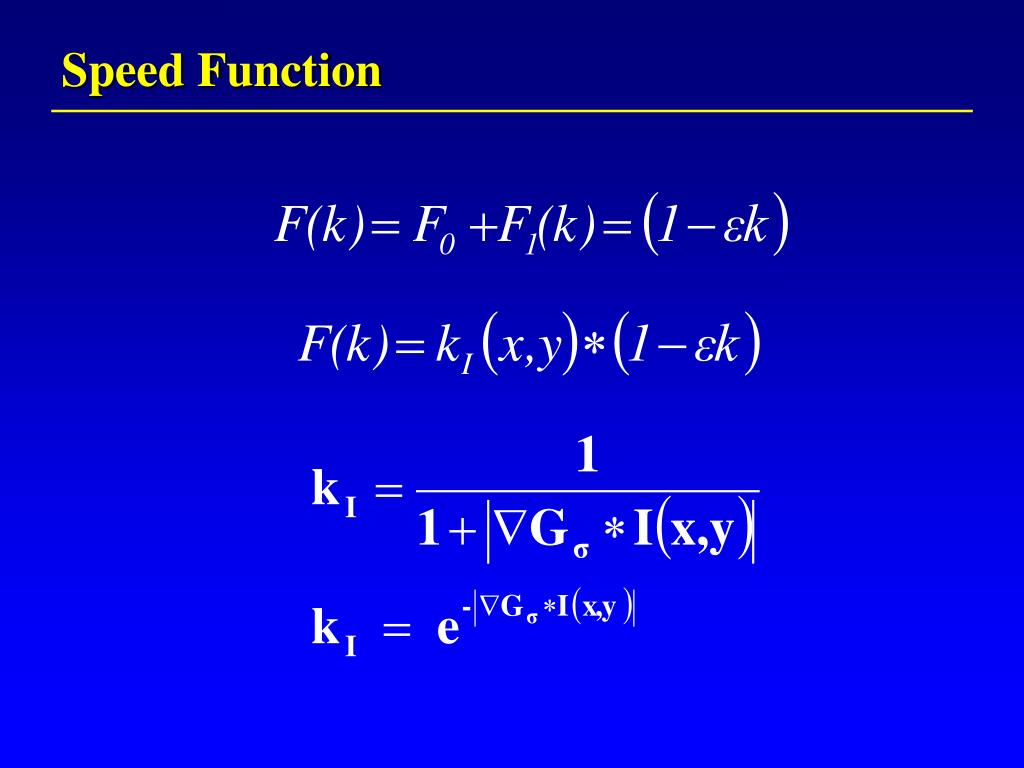 Speed Function