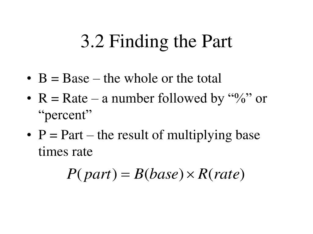 3.2 Finding the Part