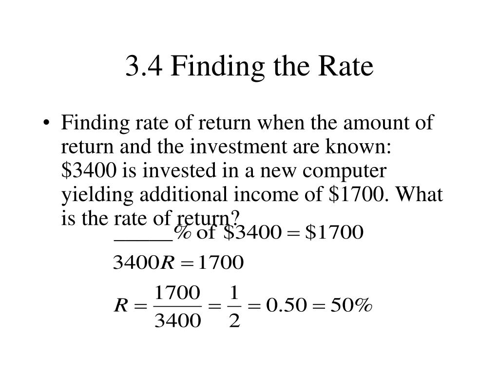 3.4 Finding the Rate