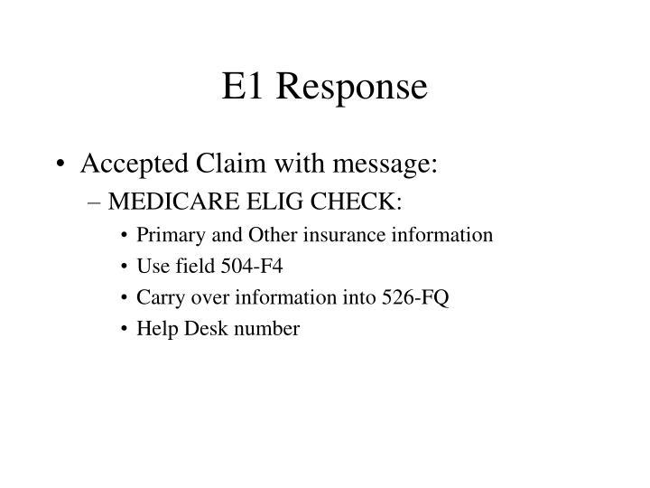 E1 Response