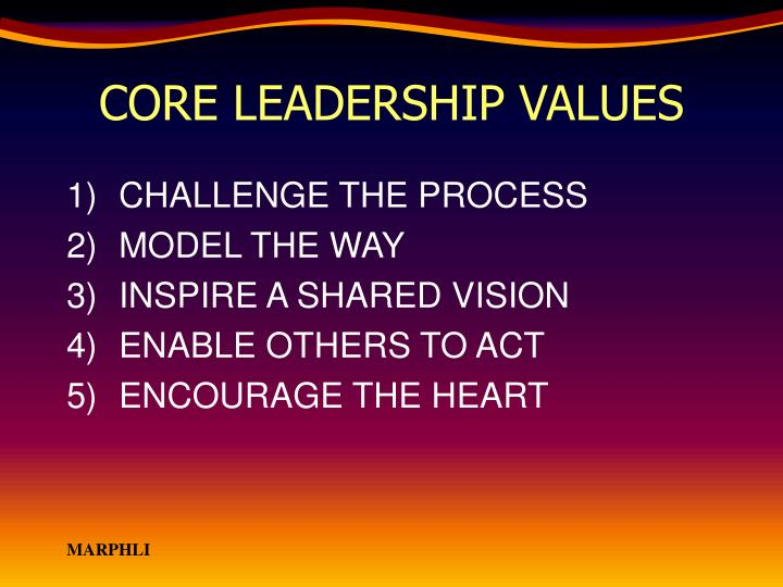 CORE LEADERSHIP VALUES