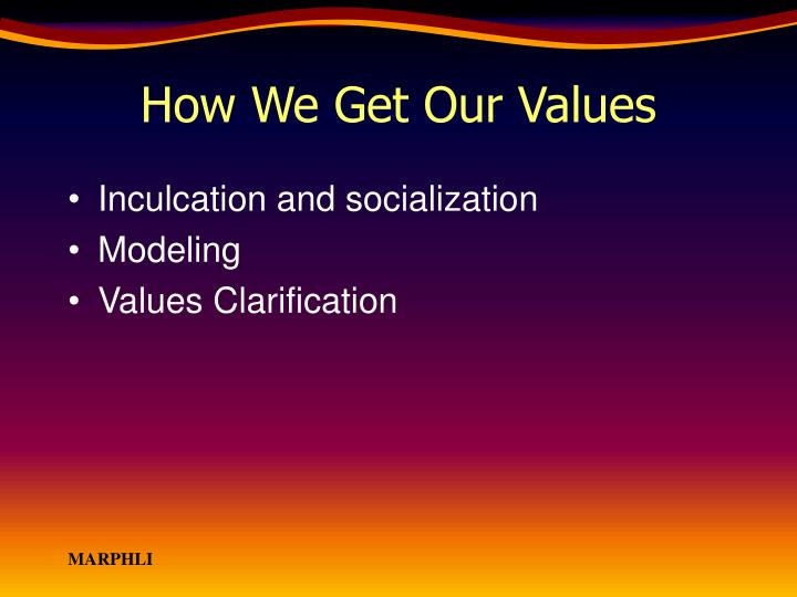 How We Get Our Values