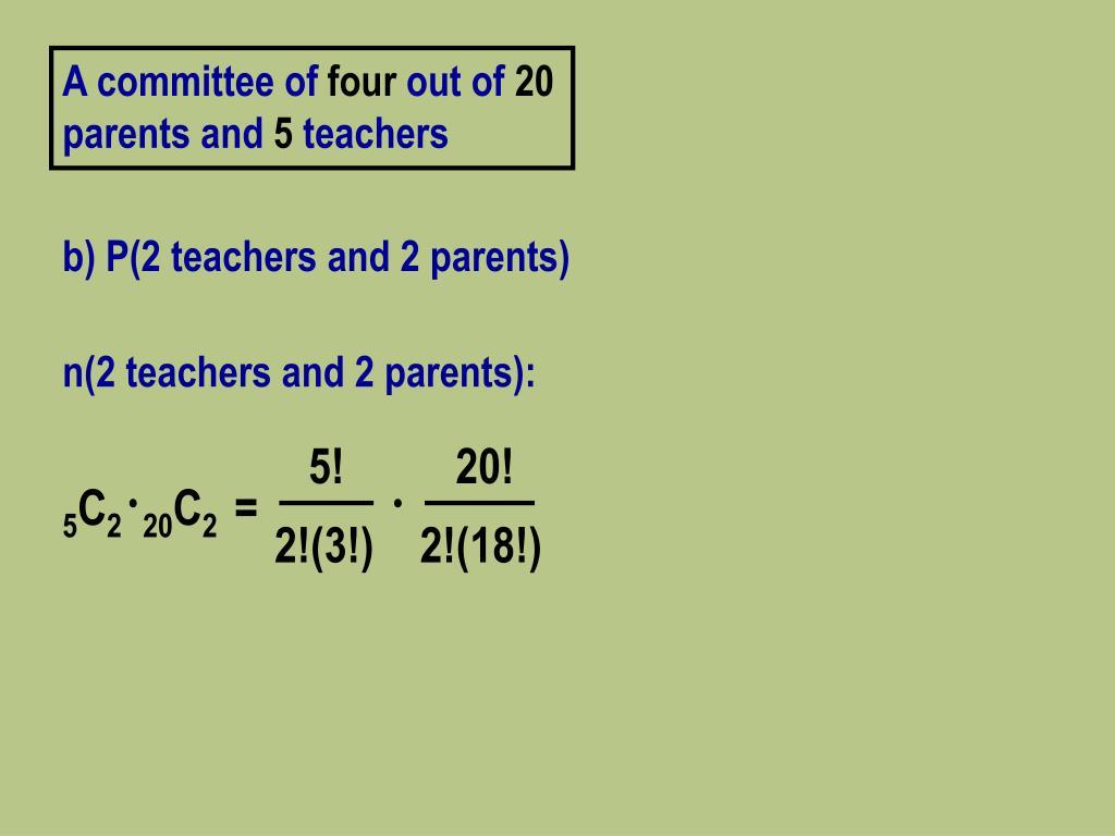 n(2 teachers and 2 parents):