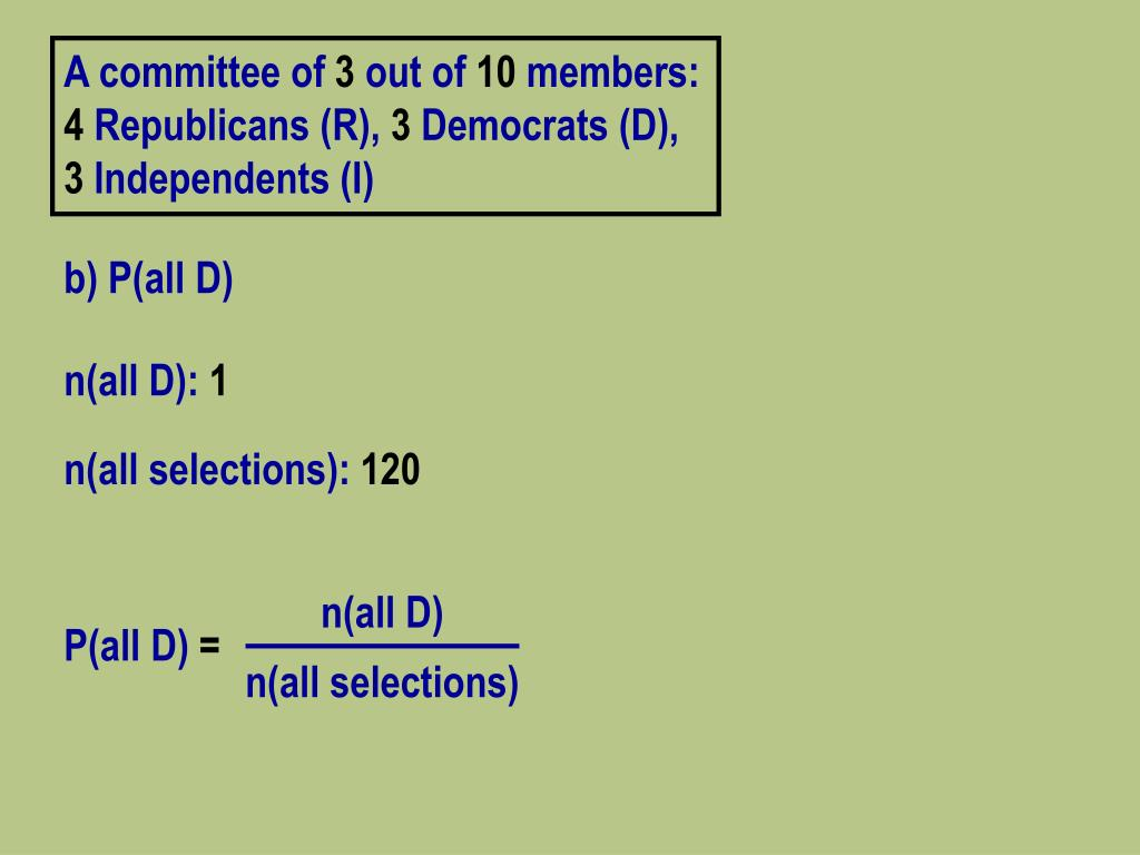 A committee of