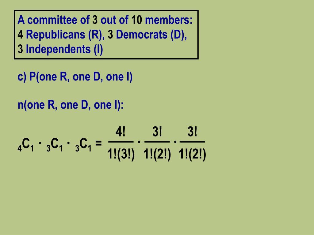 n(one R, one D, one I):