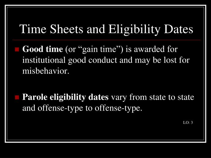 Time Sheets and Eligibility Dates