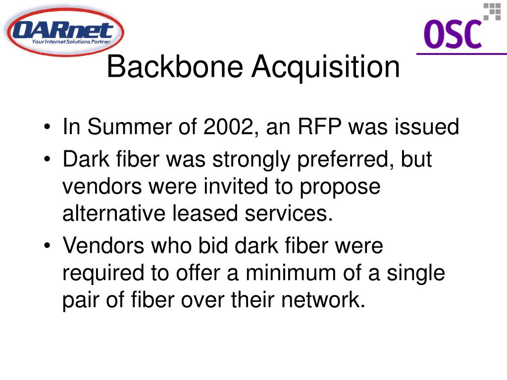 Backbone Acquisition