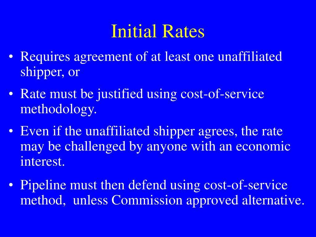 Initial Rates