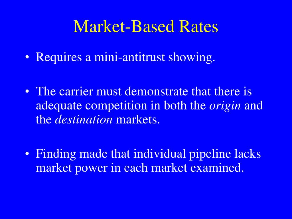 Market-Based Rates