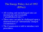 the energy policy act of 1992 epact