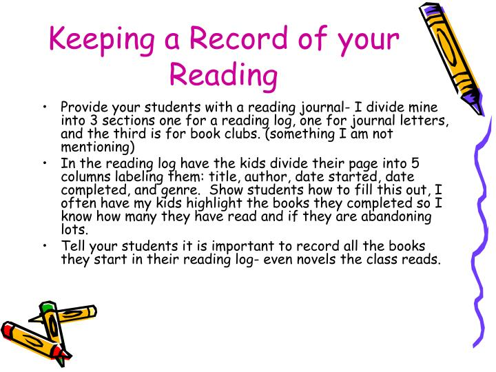Keeping a Record of your Reading