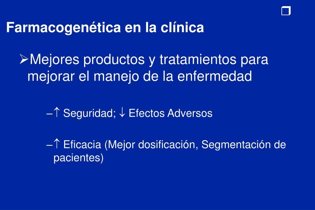 Farmacogenética en la clínica