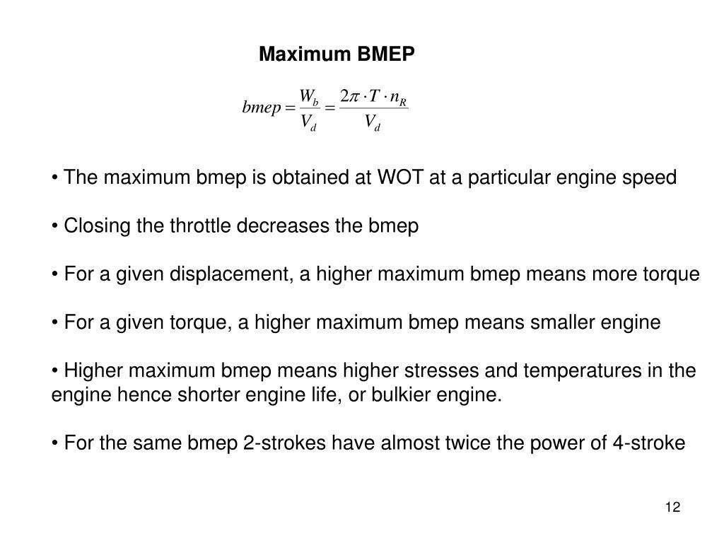 Maximum BMEP
