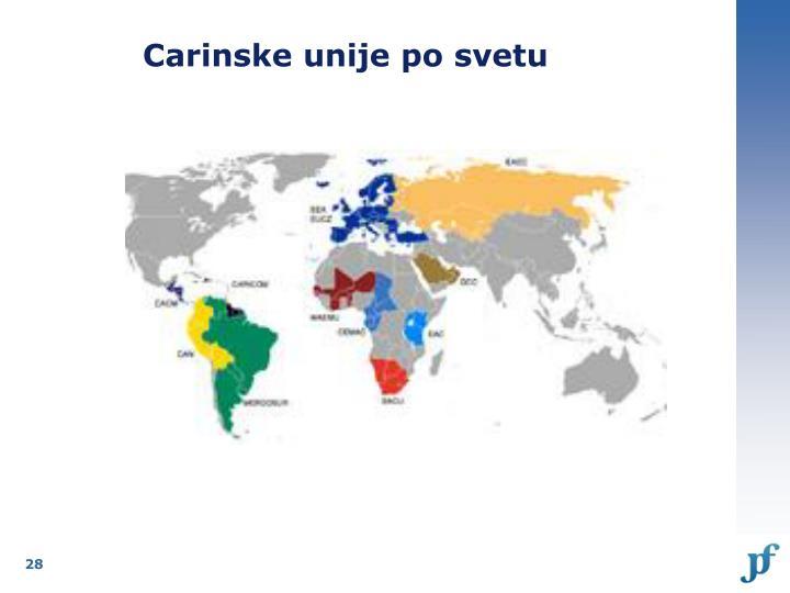 Carinske unije po svetu