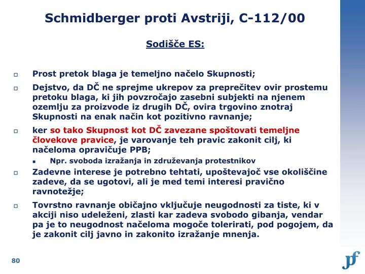Schmidberger proti Avstriji, C-112/00