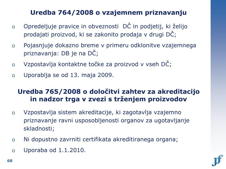 Uredba 764/2008 o vzajemnem priznavanju