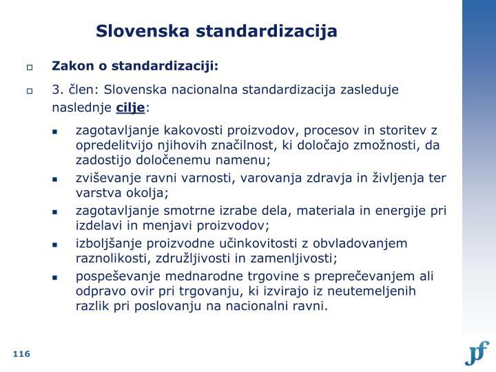 Slovenska standardizacija