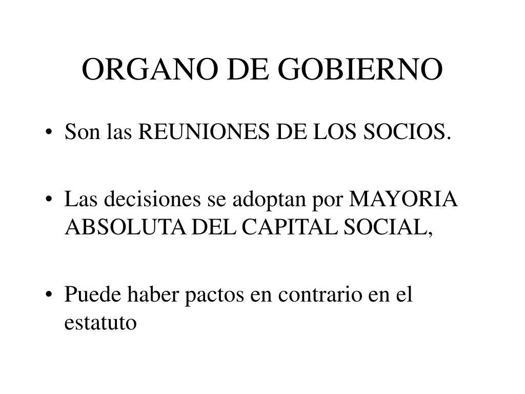 ORGANO DE GOBIERNO