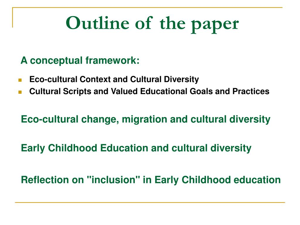 cultural background research papers