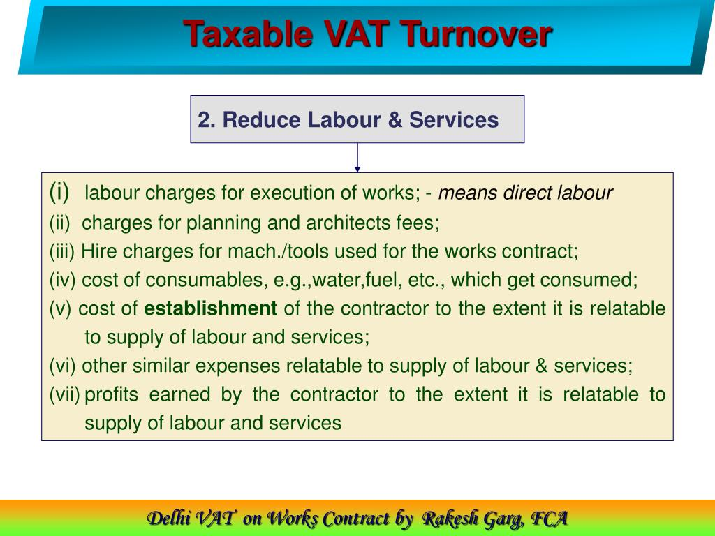 Taxable VAT Turnover