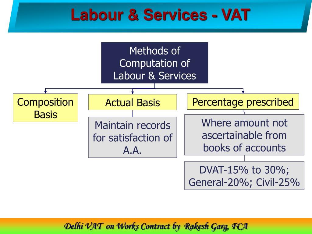 Labour & Services - VAT