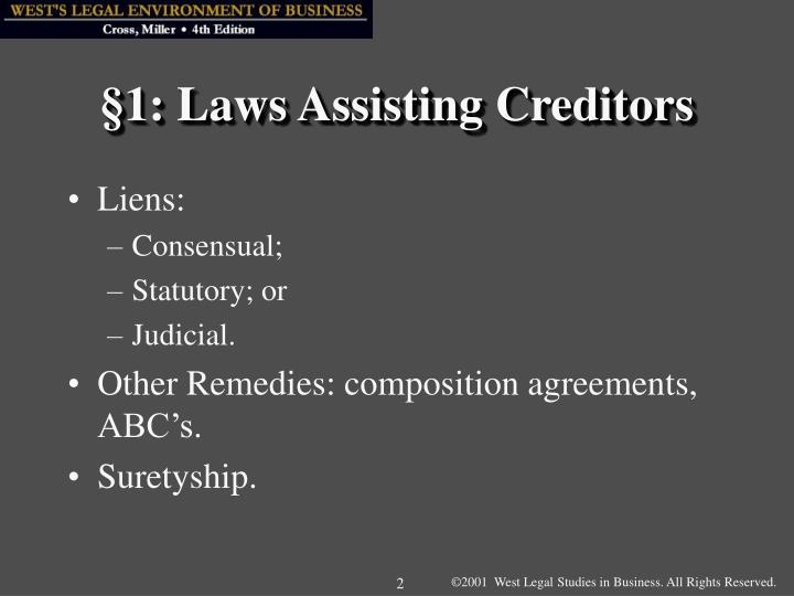 1 laws assisting creditors l.jpg