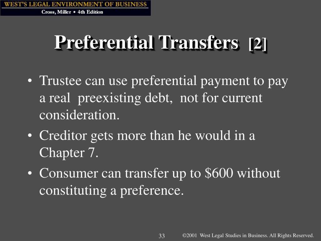 Preferential Transfers