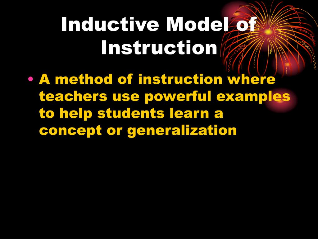 Inductive Model of Instruction