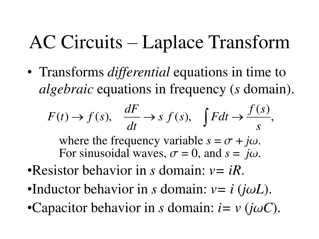 AC Circuits – Laplace Transform