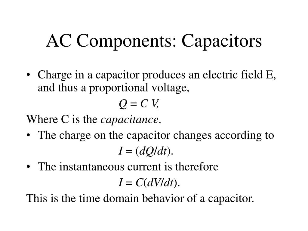 AC Components: Capacitors