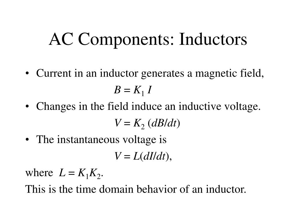 AC Components: Inductors