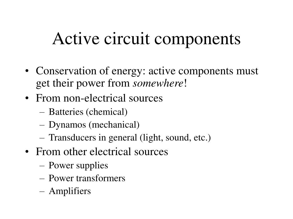 Active circuit components