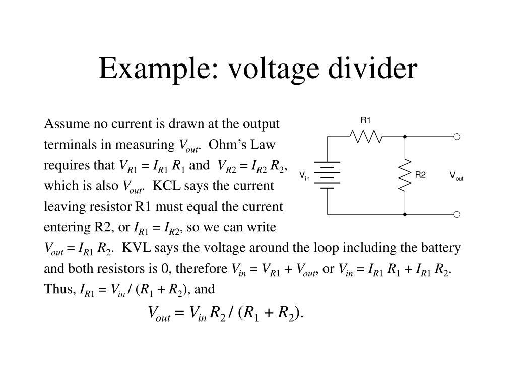 Example: voltage divider