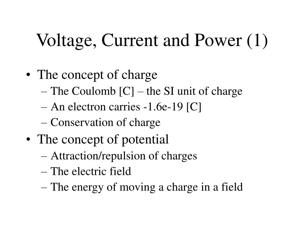 Voltage, Current and Power (1)