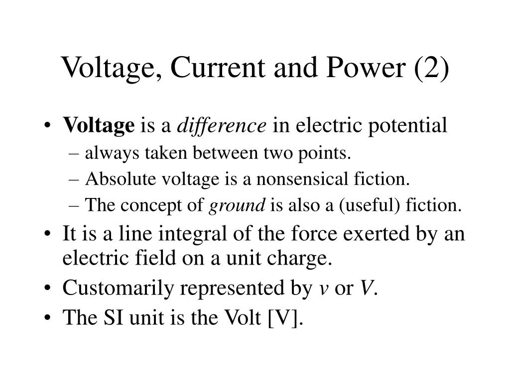 Voltage, Current and Power (2)